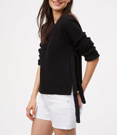 LOFT Side Tie Sweater
