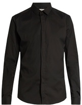 Valentino Button-cuff Slim-fit Cotton-blend Shirt