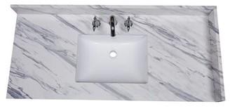 "Calacatta 49"" Single Bathroom Vanity Top Renaissance Vanity"