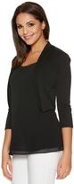 Quiz Black 3/4 Sleeve Crop Jacket