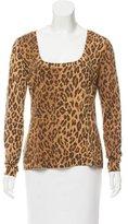 Dolce & Gabbana Leopard Printed Wool Sweater