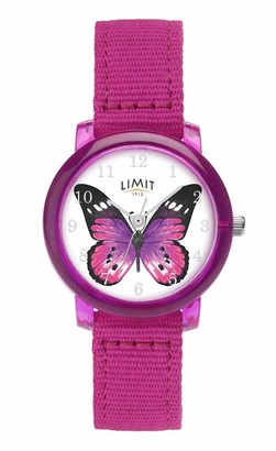 Limit Kids Analogue Butterfly Watch with Canvas Strap.