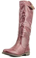 Journee Collection Amia Women Round Toe Synthetic Burgundy Knee High Boot.