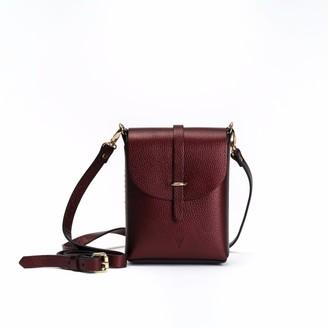 Hiva Atelier Astrum Leather Bag Metallic Burgundy