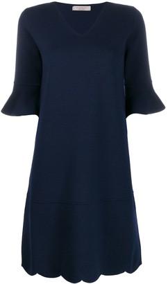 D-Exterior D.Exterior ruffled sleeve midi dress