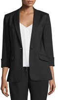 Elizabeth and James Alex Stretch Crepe Blazer, Black