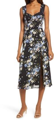 Reformation Fulton Leopard Print Sleeveless Dress