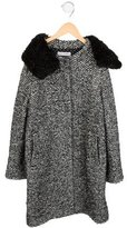 Dolce & Gabbana Girls' Alpaca-Trimmed Wool-Blend Coat