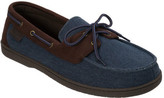 Dearfoams Men's Twill Boater Moccasin Slipper