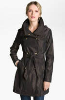 Ellen Tracy Packable Double Breasted Trench Coat