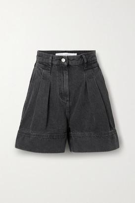 IRO Tryfin Pleated Denim Shorts - Charcoal