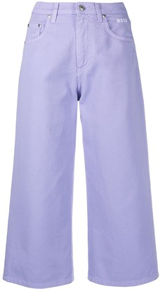 MSGM High-Waist Cropped Jeans