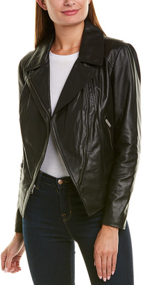 Andrew Marc Bayside Asymmetrical Leather Jacket