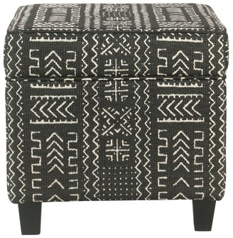 Carson Carrington Birkerod Onyx Square Ottoman with Lift Off Top