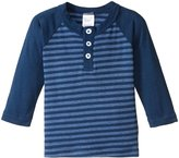 City Threads Stripe Raglan Henley Tee (Baby) - Navy - 3-6 Months