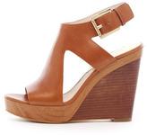 MICHAEL Michael Kors Josephine Leather Wedge Sandal