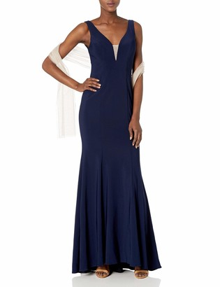 Xscape Evenings Women's Long Ity Vneck Dress