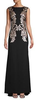 Tadashi Shoji Sequin-Embellished Sleeveless Gown