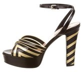 Valentino Platform Ankle-Strap Sandals