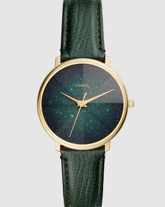 Fossil Prismatic Galaxy Green Analogue Watch