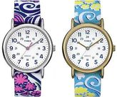Timex Women's Weekender Floral Pattern White Dial Nylon Strap | Casual TW2P90200