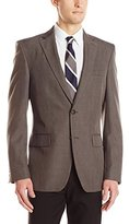Haggar Men's Travel Performance Heather-Check Tailored-Fit Suit Separate Coat