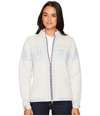 Dale of Norway Sunniva Jacket (A-Off-White/Ice Blue) Women's Coat