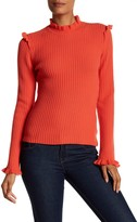 Derek Lam 10 Crosby Fitted Ruffle Cashmere Sweater