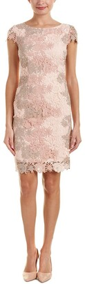 Tahari by Arthur S. Levine Women's Cap Sleeve Two Tone Lace Sheath