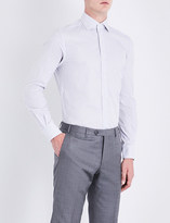 Corneliani Striped regular-fit cotton shirt