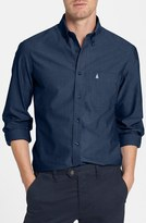 Nordstrom Smartcare TM Trim Fit Oxford Non-Iron Sport Shirt (Regular & Tall)