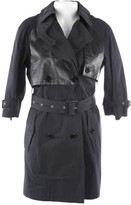 Herno Black Cotton Trench coats