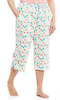 Sleep Sense Plus Dotted Jersey Capri Sleep Pants