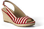 Classic Women's Wide Presley Mid Wedge Slingback Sandals-Tomato Stripe