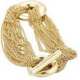 Tiffany & Co. 18K Yellow Gold Multi Strand Mesh Link Toggle Bracelet