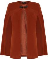 Dorothy Perkins Orange buckle cape coat