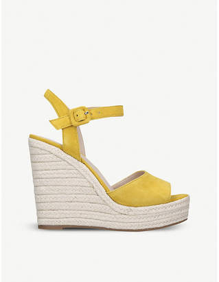Aldo Ybelani suede wedge sandals
