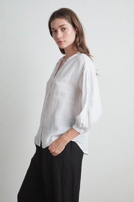 Velvet by Graham & Spencer Matea Woven Linen Button Up Blouse