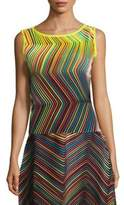 Issey Miyake Rainbow Striped Top