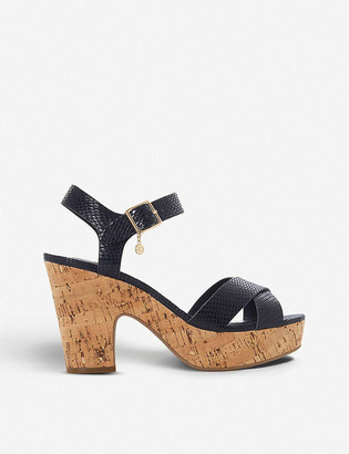 Dune Iylene faux-leather platform sandals