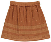 Little Karl Marc John Jasmy Embroidered Button-Uo Fluid Skirt