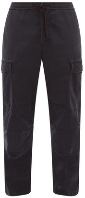 Officine Generale Jay Garment-dyed Brushed-twill Cargo Trousers - Navy