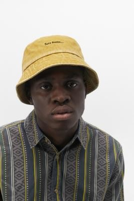 iets frans... Washed Mustard Bucket Hat - Yellow ALL at Urban Outfitters