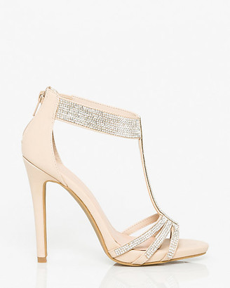 Le Château Jewels & Faux Leather T-Strap Sandal
