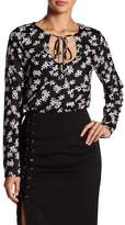Lucca Couture Natalie Printed Long Sleeve Blouse