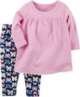 Carter's Baby Girls' 2-Piece Babydoll Shirt & Legging Set
