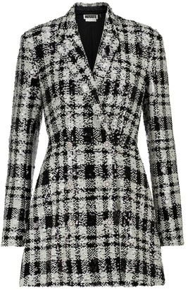 Rotate by Birger Christensen Newton checked sequined blazer minidress