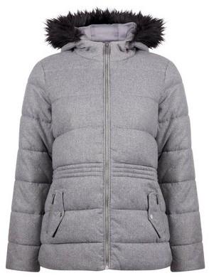 Dorothy Perkins Womens Grey Short Padded Coat, Grey