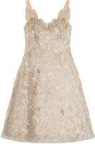 Marchesa Embroidered Organza Dress