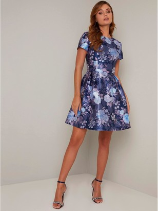 Chi Chi London Zarya Dress - Navy